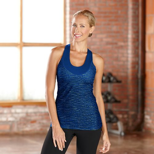 Womens R-Gear Picture Perfect Bra Tanks Sport Top Technical Tops - Pacific Blue XS