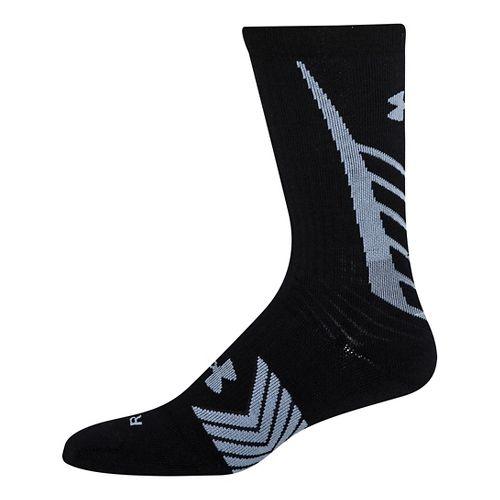 Mens Under Armour Undeniable Crew Socks - Black/Steel L