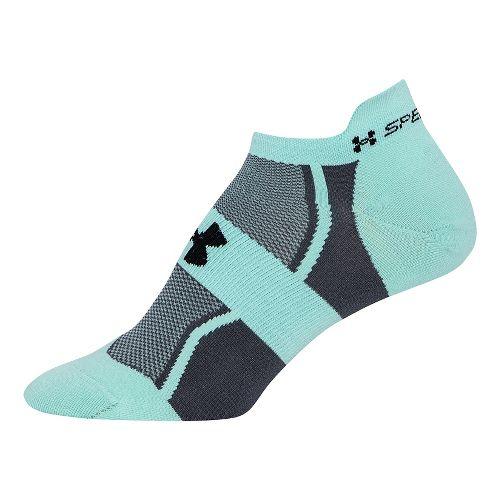 Womens Under Armour Speedform Socks - Crystal/Graphite M