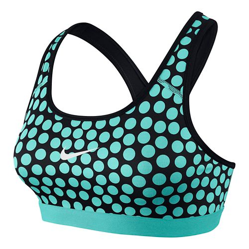 Womens Nike Pro Classic Dot Sports Bra - Light Aqua/Black XL
