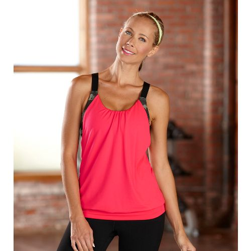 Womens R-Gear Urban Appeal Bra Tanks Technical Tops - Poppy Pink S