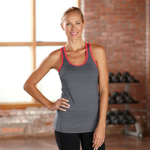 Womens R-Gear Urban Appeal Racerback Tanks Technical Tops - Heather Charcoal M