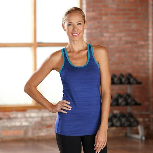 Womens R-Gear Urban Appeal Racerback Tanks Technical Tops - Twilight/Laguna Blue XS