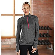 Womens R-Gear Set The Stage Striped Long Sleeve 1/2 Zip Technical Tops