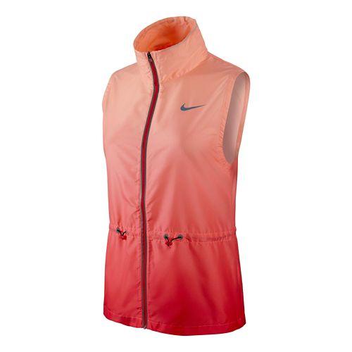 Womens Nike Gradient Running Vest - Daring Red M
