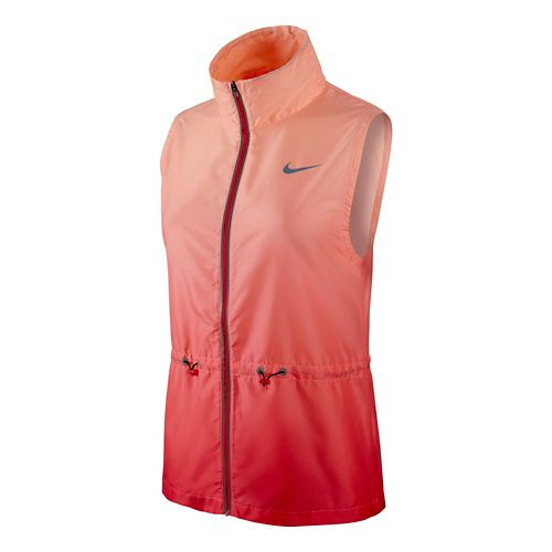 Womens Nike Gradient Running Vest - Daring Red M