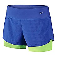 Womens Nike Perforated Rival 2-in-1Shorts