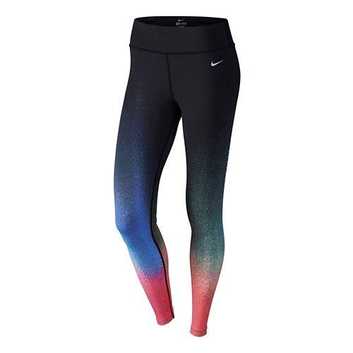Womens Nike ForeverGradiant Full Length Tights - Black/Multi M
