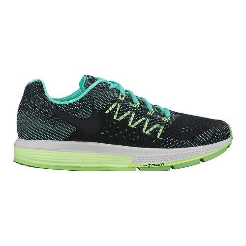 Womens Nike Air Zoom Vomero 10 Running Shoe - Black/Green 8.5