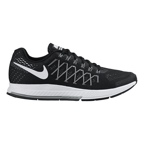 Mens Nike Air Zoom Pegasus 32 Running Shoe - Black 10.5