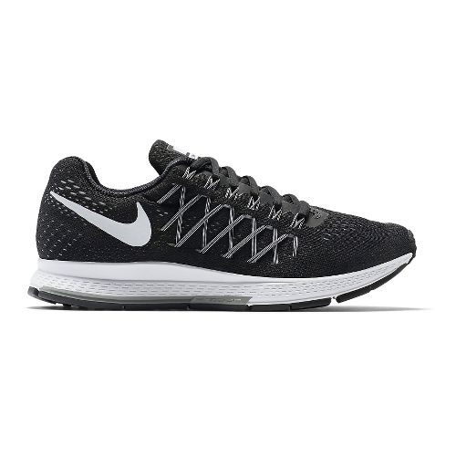 Womens Nike Air Zoom Pegasus 32 Running Shoe - Black 10.5