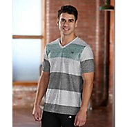 Mens R-Gear Rock Solid Stripe Tee Short Sleeve Technical Top - White L