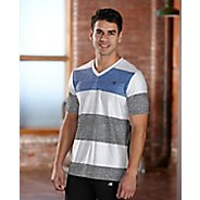 Mens R-Gear Rock Solid Stripe Tee Short Sleeve Technical Top