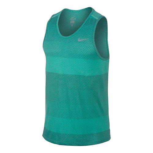 Mens Nike DF Cool Tailwind Stripe Tanks Technical Top - Light Retro M