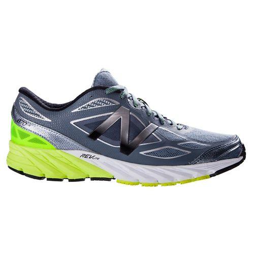 Mens New Balance 870v4 Running Shoe - Grey/Yellow 12.5