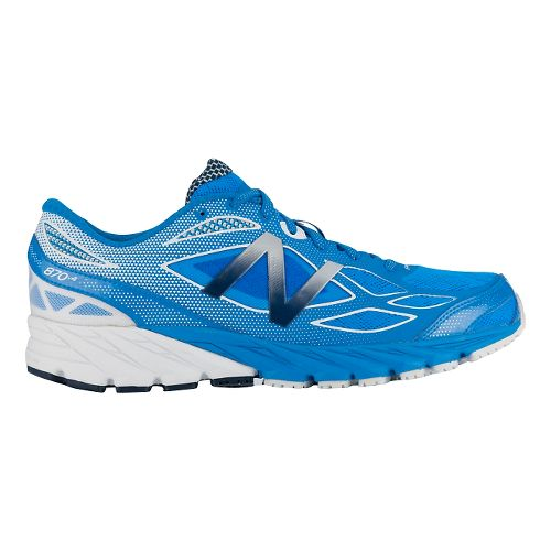 Mens New Balance 870v4 Running Shoe - Blue/White 10.5