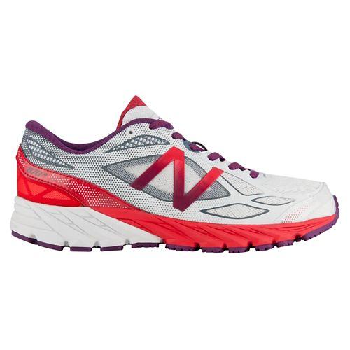 Womens New Balance 870v4 Running Shoe - White/Cerise 8.5