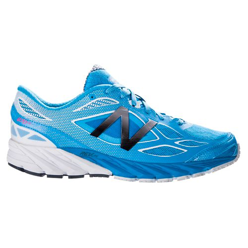 Womens New Balance 870v4 Running Shoe - Blue/White 7.5
