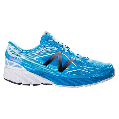 Womens New Balance 870v4 Running Shoe - Blue/White 7.5
