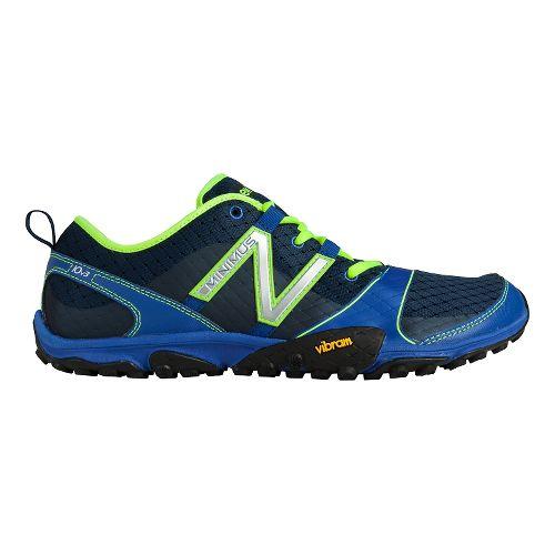 Mens New Balance Minimus 10v3 Trail Running Shoe - Blue/Yellow 11.5