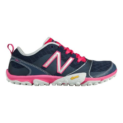 Womens New Balance Minimus 10v3 Trail Running Shoe - Blue/Pink 6.5