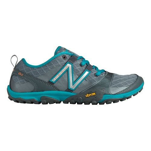 Womens New Balance Minimus 10v3 Trail Running Shoe - Grey/Teal 10.5