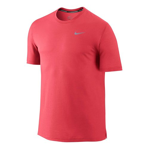 Mens Nike DF Cool Tailwind Short Sleeve Technical Top - Daring Red M
