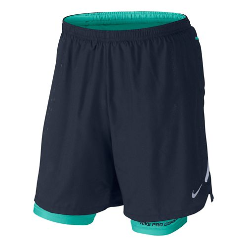 Mens Nike DF Phenom Vapor 2-in-1 Short - Obsidian/Light Retro M