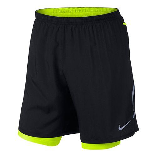 Mens Nike DF Phenom Vapor 2-in-1 Short - Black/Volt L