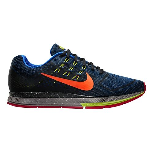 Men's Nike Air Zoom Structure 18 QS Running Shoe - Black/Blue 9.5
