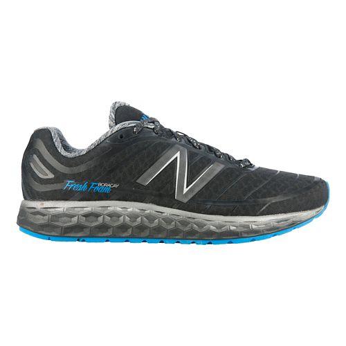 Mens New Balance Fresh Foam Boracay Solar Eclipse Running Shoe - Black/Blue 8.5