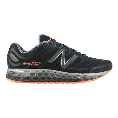 Women's New Balance Fresh Foam Boracay Solar Eclipse Running Shoe - Black/Orange 7