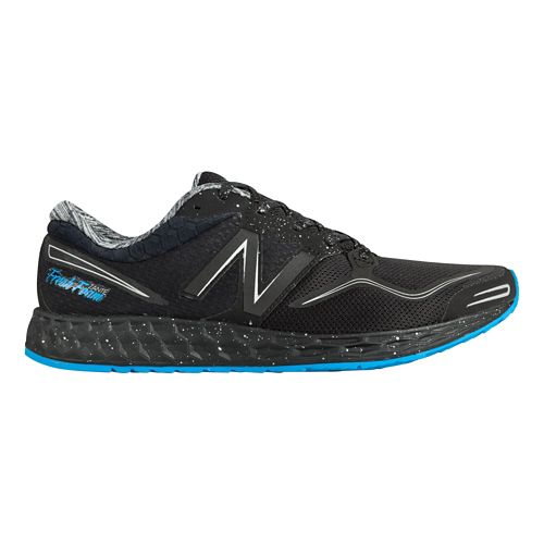 Mens New Balance Fresh Foam Zante Solar Eclipse Running Shoe - Black/Blue 9.5