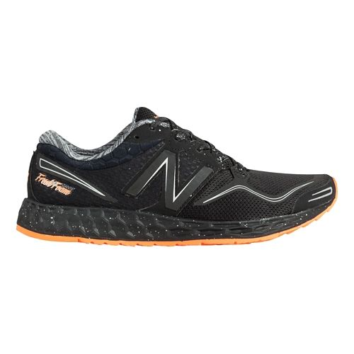 Womens New Balance Fresh Foam Zante Solar Eclipse Running Shoe - Black/Orange 7.5