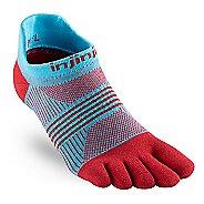 Womens Injinji RUN Lightweight No Show CoolMax Socks - Cardinal M/L