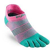 Womens Injinji RUN Lightweight No Show CoolMax Socks - Carnation XS/S