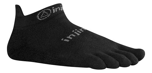 Injinji RUN Original Weight No Show Socks - Black L