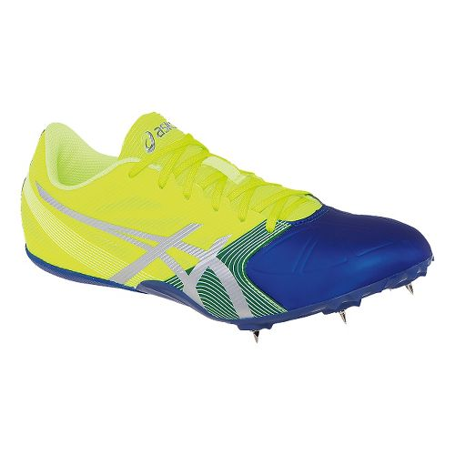 Mens ASICS Hypersprint 6 Track and Field Shoe - Flash Yellow/Blue 7