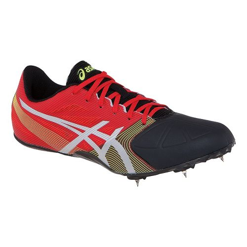 Mens ASICS Hypersprint 6 Track and Field Shoe - Red/Black 8.5