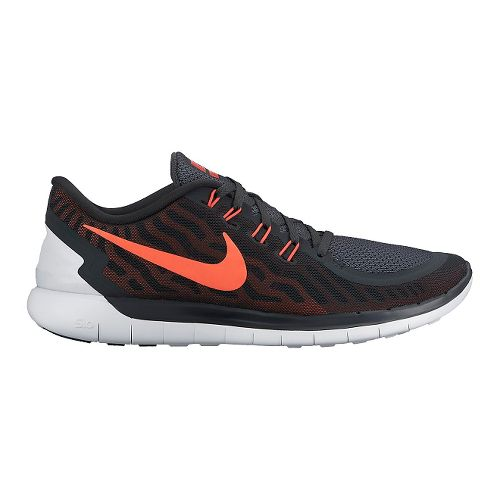 Mens Nike Free 5.0 Running Shoe - Anthracite/Red 13