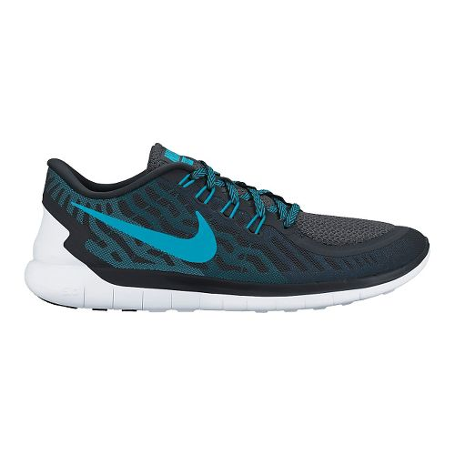 Mens Nike Free 5.0 Running Shoe - Black/Blue 8.5