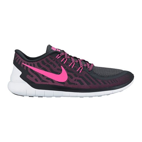 Womens Nike Free 5.0 Running Shoe - Black/Pink 6.5