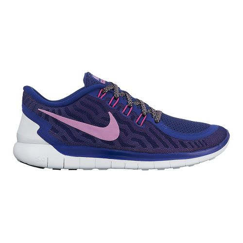 Womens Nike Free 5.0 Running Shoe - Titanium/Lava 7