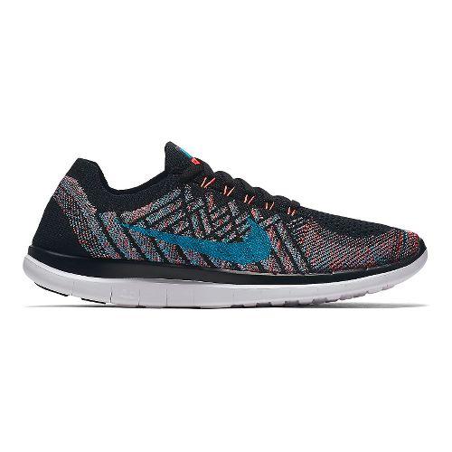Mens Nike Free 4.0 Flyknit Running Shoe - Black/Multi 9
