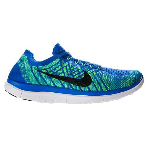 Mens Nike Free 4.0 Flyknit Running Shoe - Blue 12