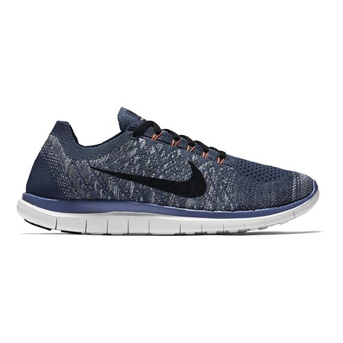 Mens Nike Free 4.0 Flyknit Running Shoe - Blue/Fog 12