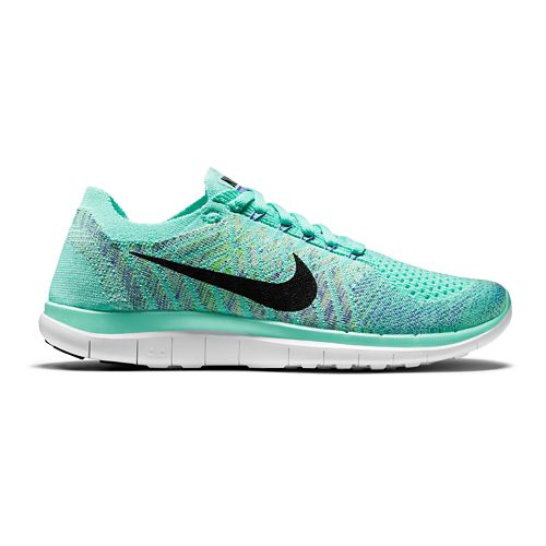 Womens Nike Free 4.0 Flyknit Running Shoe - Turquoise 7.5
