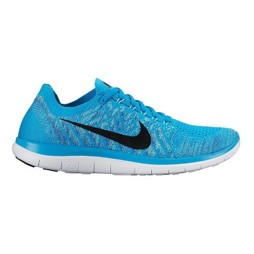 Womens Nike Free 4.0 Flyknit Running Shoe - Blue 8.5