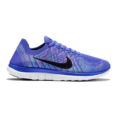 Womens Nike Free 4.0 Flyknit Running Shoe - Violet 6