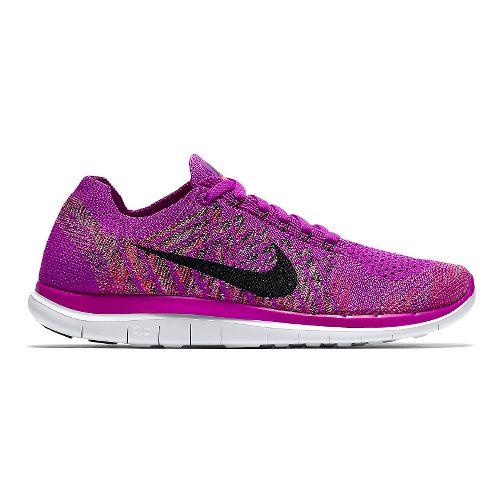 Womens Nike Free 4.0 Flyknit Running Shoe - Fuchsia 8.5